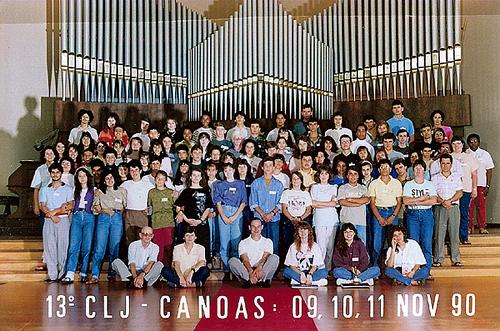 Em foto clássica, retiro do CLJ da minha irmã, de quem recebi o convite para fazer parte do CLJ